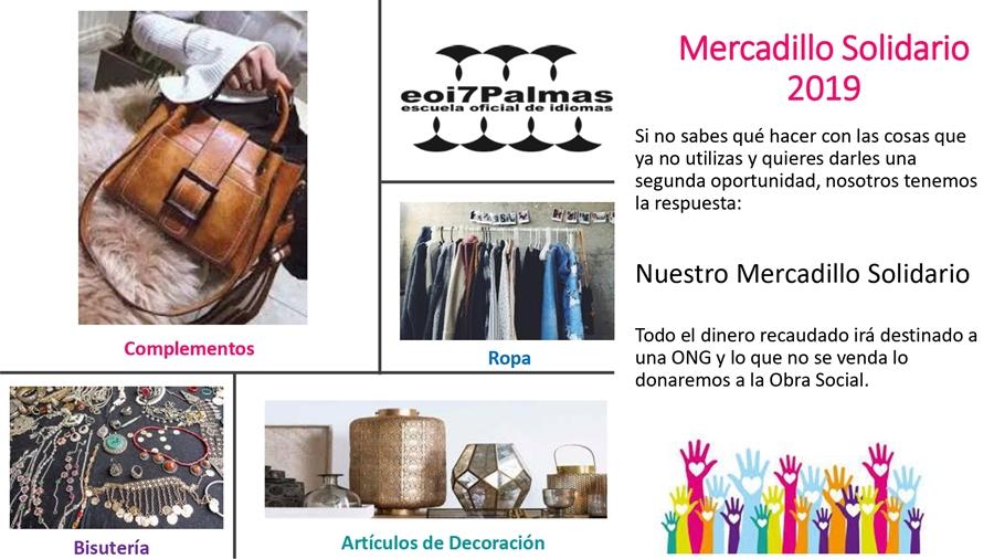 Mercadillo Solidario en EOI 7 Palmas
